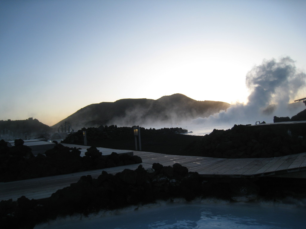THE Blue lagoon Iceland, view from the front of Blue Lagoon, blue lagoon