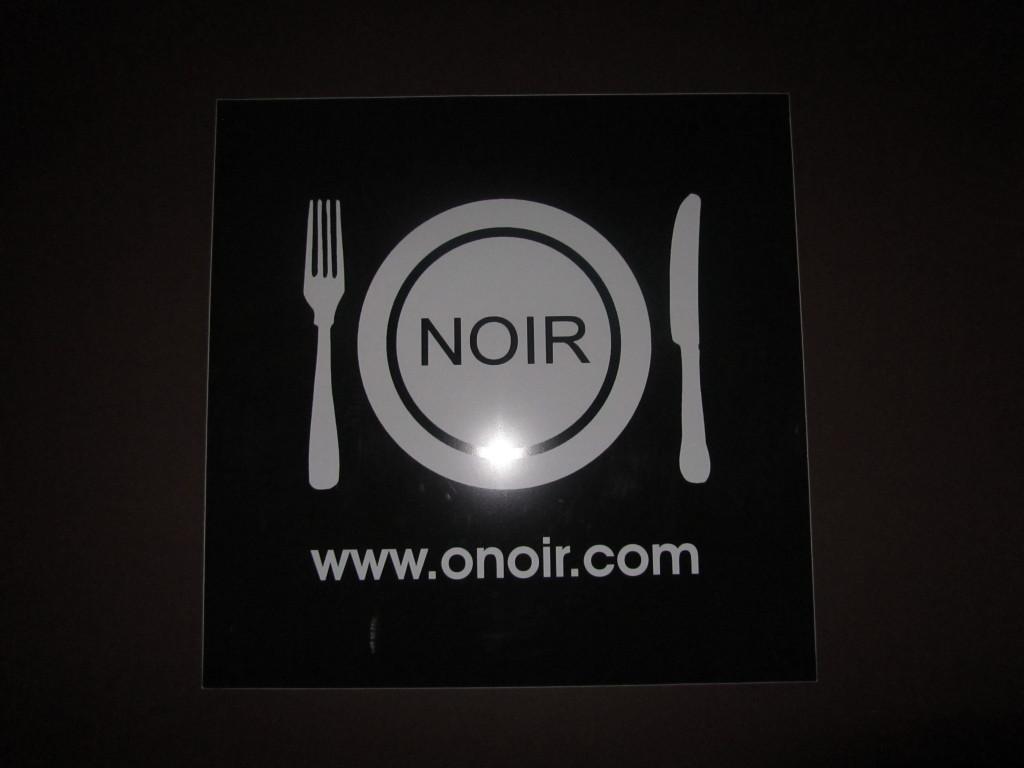 O noir pitch black restaurant
