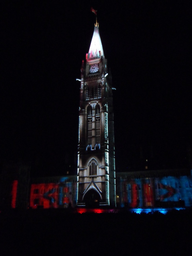 Mosaika light and sound show, Mosaika, things to do in canada, things to do in ottawa, parliament hill,