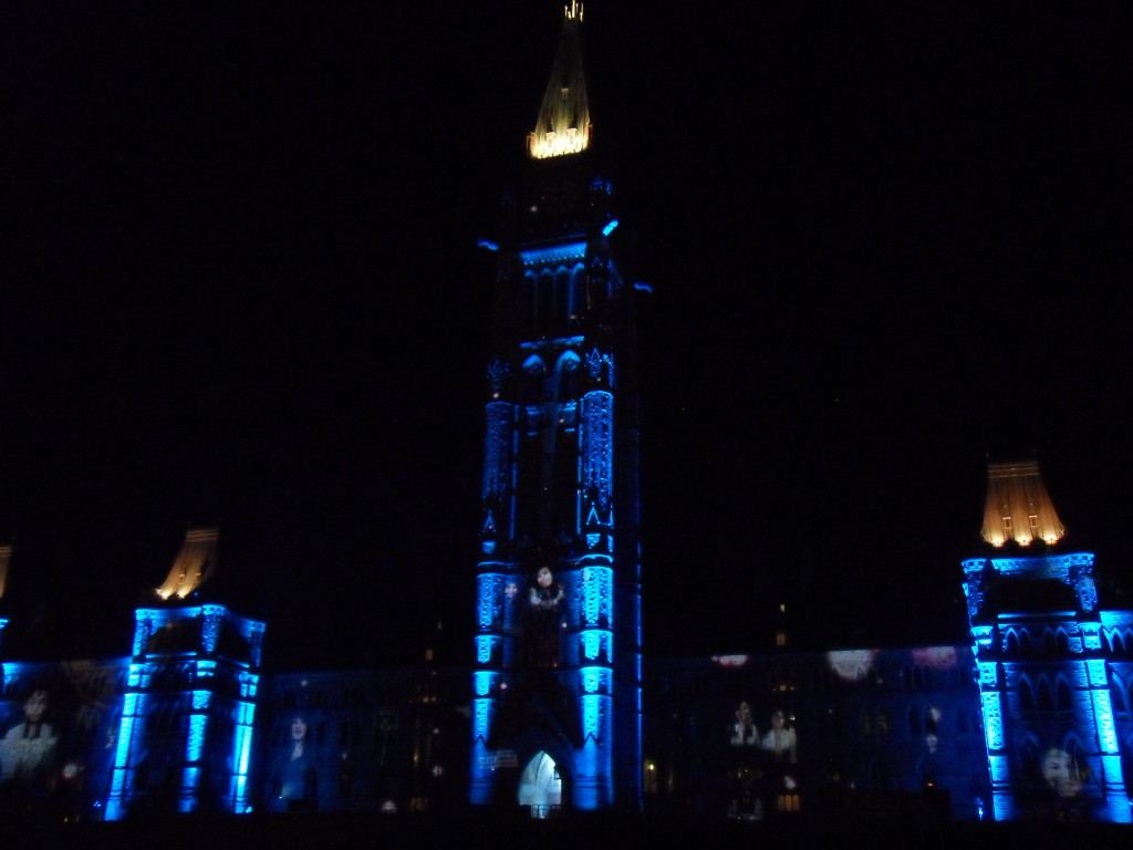 Mosaika light and sound show, mosaika, parliament hill, things to do in ottawa