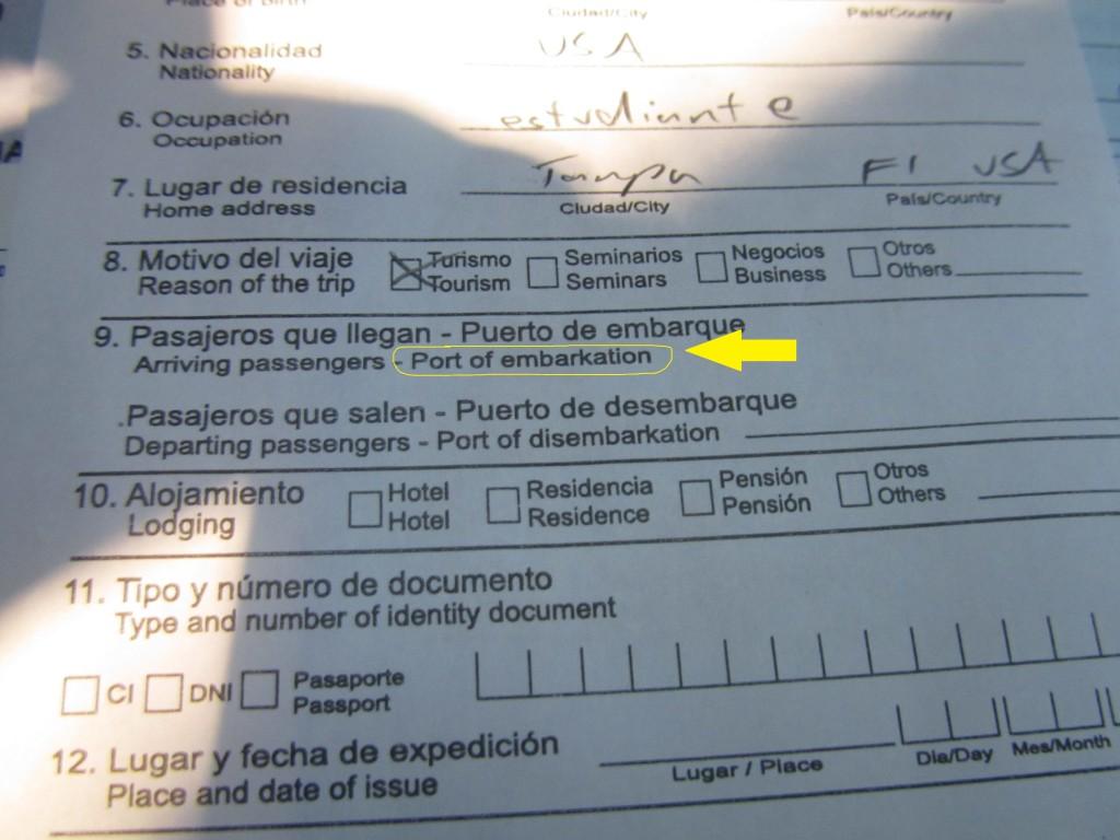 Paraguay visa, paraguay forms